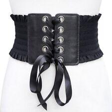 Women's Elastic Belt Widebamd Corset Waistband Black Brown White