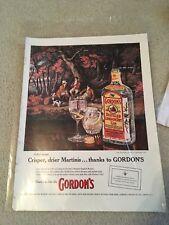 Vintage 1958 Gordons Gin Ad