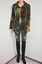 58c4342ba Rare Vtg 80s Hippie Boho Tie Dye coat cape ball/web throughout velvet  Jacket M