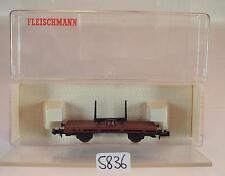 Fleischmann N Spur 8220 Drehschemelwagen in OVP #5836