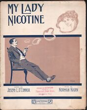My Lady Nicotine 1911 Large Format Sheet Music