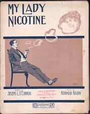 My Lady Nicotine 1911 Large Format Sheet Music