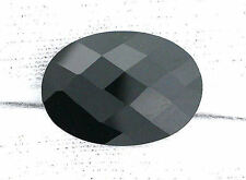 ONE 18x13 Custom Cut Double Sided Faceted Black Onyx Gemstone Gem Stone B23A2