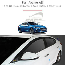 Smoke Door Window Sun & Rain Visor 4p 1Set For Hyundai Elantra Sedan 2017 2018