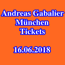 Tickets - ANDREAS GABALIER - MÜNCHEN - Innenraum Stehplätze - Karten - 16.06.18