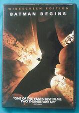 Batman Begins (widescreen DVD) Christian Bale, Michael Caine, Morgan Freeman
