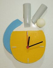 Roby Mauro Artistic Ping Pong Wall Clock - Made in Italy - La Marmoresina - New
