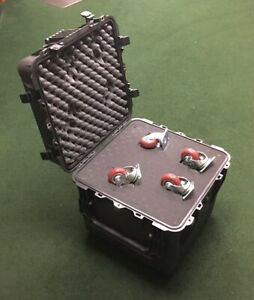 Pelican 0340 Cube Case w/Pluck Foam and Mobility Casters NEW