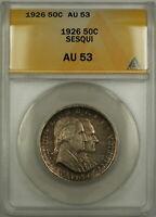1926 Sesqui Commemorative Silver Half Dollar 50c Coin ANACS AU 53