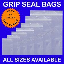 "200 Grip Seal Bags Clear Plain Self Sealable Poly Plastic 9""x12.75"" A4 Size"