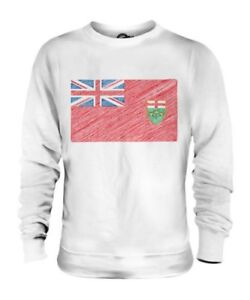ONTARIO STATE SCRIBBLE FLAG UNISEX SWEATER TOP GIFT FOOTBALL SHIRT