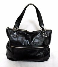 COACH BLACK BUTTERY SOFT SHINY LEATHER SHOULDER BAG/TOTE/SATCHEL, EXTRA LARGE!*