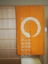 Kyoto Enso Noren Door curtain Roketsu dye Batik Yellow Japan 85 x 150 cm