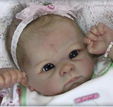 Newborn Doll Kit Reborn Dolls Kits Supplies soft vinyl Head + 3/4 Limbs 22'' HOT