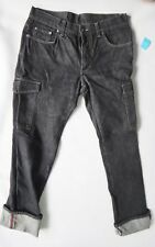 GUCCI cargo pant BLACK jean denim 32 33 34 selvage vintage 50 carpenter
