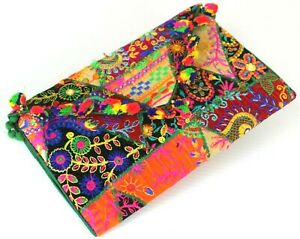 NEW Embroidered Clutch Fabric Purse Crossbody Shoulder Bag Nepal  Boho
