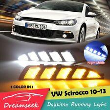 3 Farbe LED Tagfahrlicht TFL für VW Scirocco 2010-2014 DRL Lampe Mit Gelb Blinke
