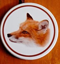2 Red Fox Coasters Animal Spirit Cabin Lodge Totem Christmas Tree Ornament