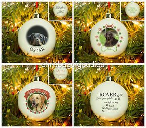 PERSONALISED CHRISTMAS DOG CAT Pet BAUBLE Memorial Decoration Keepsake Gifts for