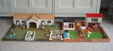 More details for vintage britains farm animals & accessories with large joy toys wooden farm