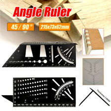 3D Aluminum Alloy Mitre Angle Measuring Gauge Square 45/90 Degree Woodworking