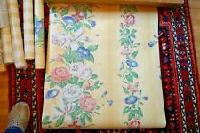 Schumacher Wallpaper Floral Buttery Yellow--Two Double Rolls + extras--1980s/90s