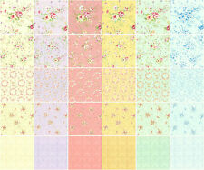 """Shabby Floral Vintage Lecien Rococo 3029-1 Jelly Roll Fabric 42 Strips 2.5"""" W"""
