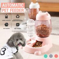 2 in 1 Automatische Haustier Hund Katze Wasserschale Futter Feeder Spender