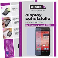 1x Alcatel One Touch 997D Schutzfolie klar Displayschutz Folie Passgenau