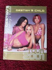 Destiny's Child Vintage Concert Program 2001, Rare! 11x14 Beyonce Kelly Michelle