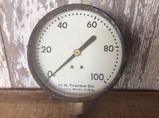 H.O. Trerice Co. Steam Or Plumbing Gauge 100 , Steampunk , Industrial