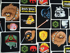 By 1/2 Yard Camelot Angry Birds Star Wars Fabric Star Wars Character Block Black