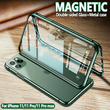 For iPhone 11 Pro Max 360° Magnetic Adsorption Double Sided Glass Metal Case New