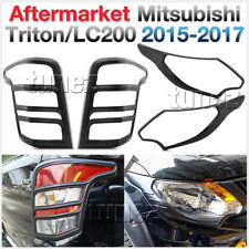 Front Tail Rear Light Lamp Cover Black For Mitsubishi Triton LC200 2015-2017 AT