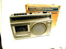Hitachi Fm/Am 2-Band Radio Cassette Recorder Model Trk5350H Original Box