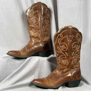Ariat Heritage R Toe Western Leather 4 Stitch Women's Size 7.5 B Cowboy Boot