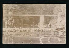 Gloucestershire Glos BRISTOL Stapleton Snuff Mills Bridge fishing c1900s RP PPC