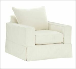 Pottery Barn Comfort Square Armchair Slipcover set- Natural BC - Knife Edge