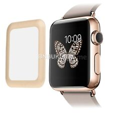 Gold Full border Edge Tempered Glass Screen Protector for Apple Watch 38mm
