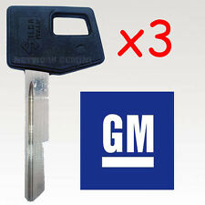 Holden Commodore Key Blank (x3)  suits VB VC VH VK VL HZ WB / BRAND NEW !!!!