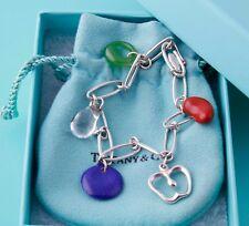 Tiffany & Co Peretti Gemstone Bracelet Crystal Lapis Jade Jasper silver Apple