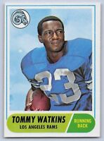 1968  TOMMY WATKINS - Topps Football Card - # 182 - LOS ANGELES RAMS