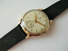 Reloj de Pulsera edición Limitada De Caballero Vintage .375 9CT Dorado Cuerda Manual Cyma Cymaflex