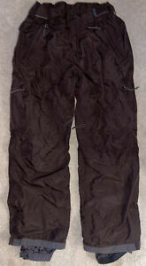 Columbia Men's Size: M Snow Pants Ski Snowboard Brown Cargo Nylon Omni-Tech