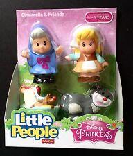Fisher Price Little People Disney Princess Cinderella Friends Fairy Godmother