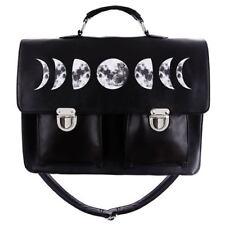 a038b8ea37e8 Restyle Moon Cycle Lunar Black Gothic Faux Leather Satchel Shoulder Bag