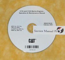SEBU6164 CAT Caterpillar 3116 3126 Marine Engine Operation Maintenance Manual CD