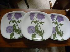 "3 Block FLORAL PORTRAITS Dinner Plates# 0071D "" Chrysanthemum """