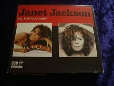 CD.JANET JACKSON.ALL FOR YOU / JANET.2 CD SET.NEW SEALED.BOXSET.48 TRACKS.VIRGIN