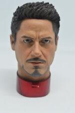 1/4 Scale Tony Stark Head Sculpt for MK43 MK45 Hot Toys T800